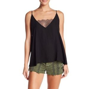 Free People Lace Inset Camisole Top Style OB716271